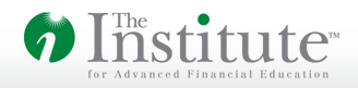 Institute for Advanced Financial Education logo