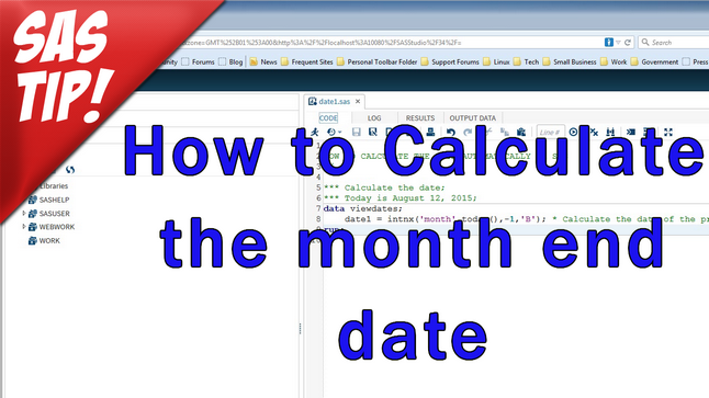 Calculate the month end date
